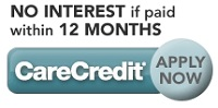 Care Credit No Interest Financing
